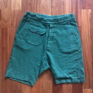 Barena green sweat short